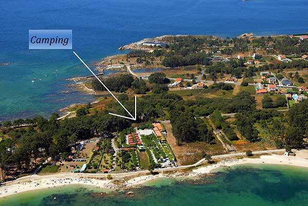 Ed n playa camping y bungalows illa de arousa pontevedra for Camping en galicia con piscina